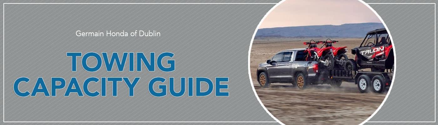 Honda Towing Capacity Guide at Germain Honda of Dublin
