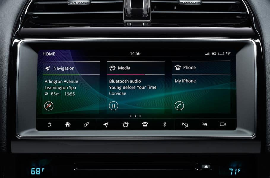 2020 Jaguar F-PACE Infotainment Display
