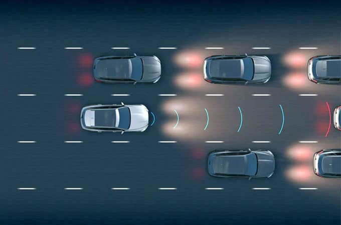 Jaguar Adaptive Cruise Control with Queue Assist