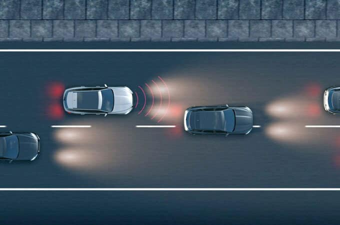 Jaguar Autonomous Emergency Braking