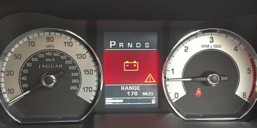 Jaguar Battery Warning Light
