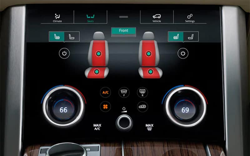 2019 Range Rover Climate Controls