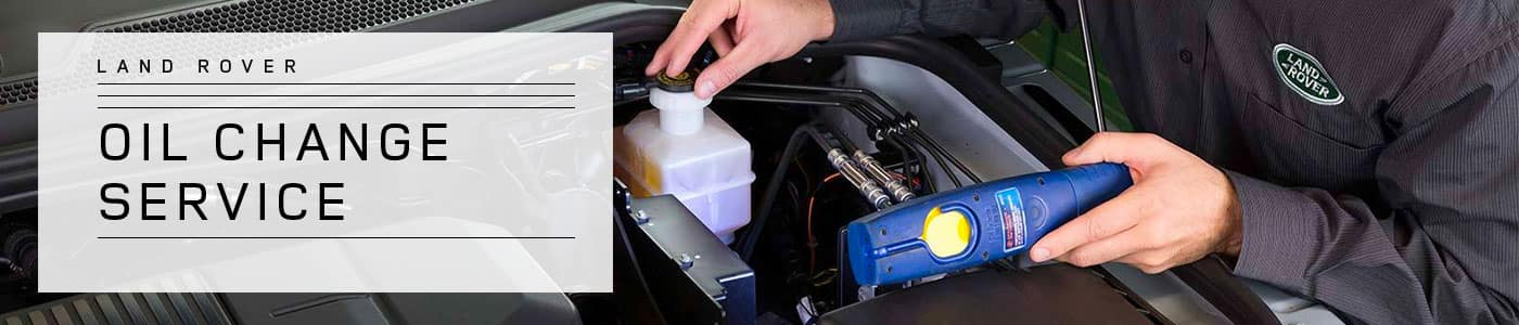 Land Rover Oil Change Service at Land Rover Easton