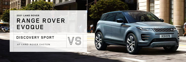 Range Rover Evoque vs Land Rover Discovery Sport at Land Rover Easton
