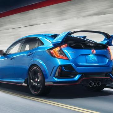 Honda_Civic_Type_R_Blue_Driving_Rear_View