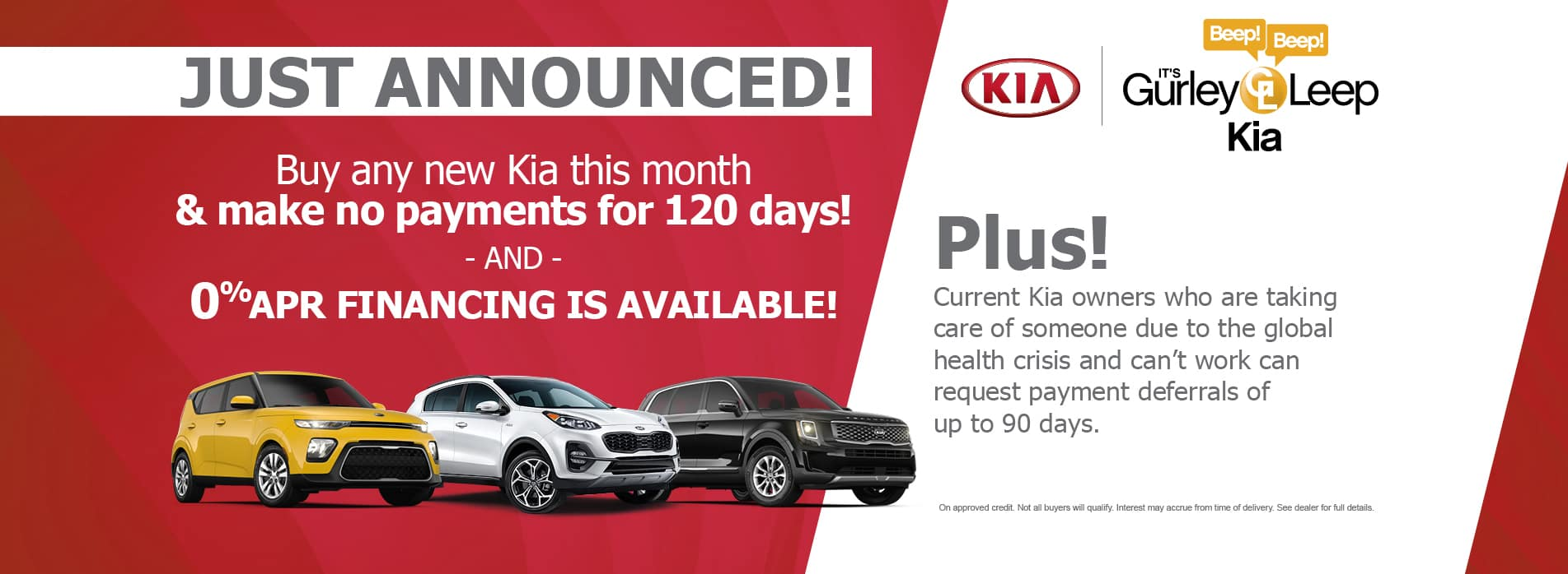 120 days no payments