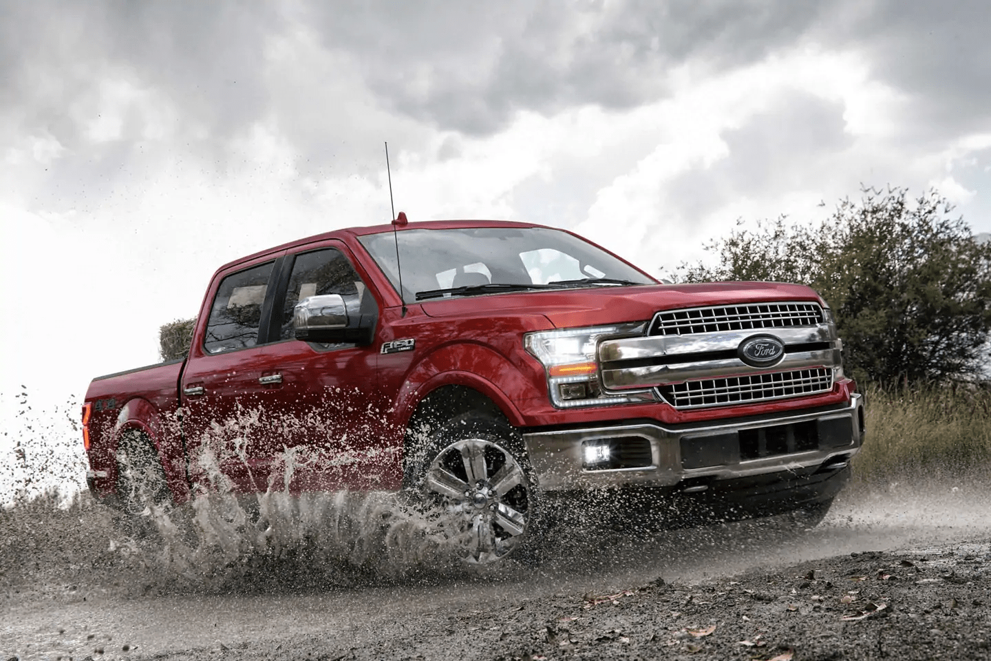2019 Ford F-150 driving in water