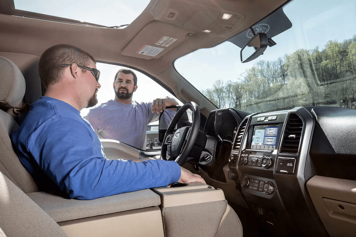 2019 Ford F-150 interior dashboard features