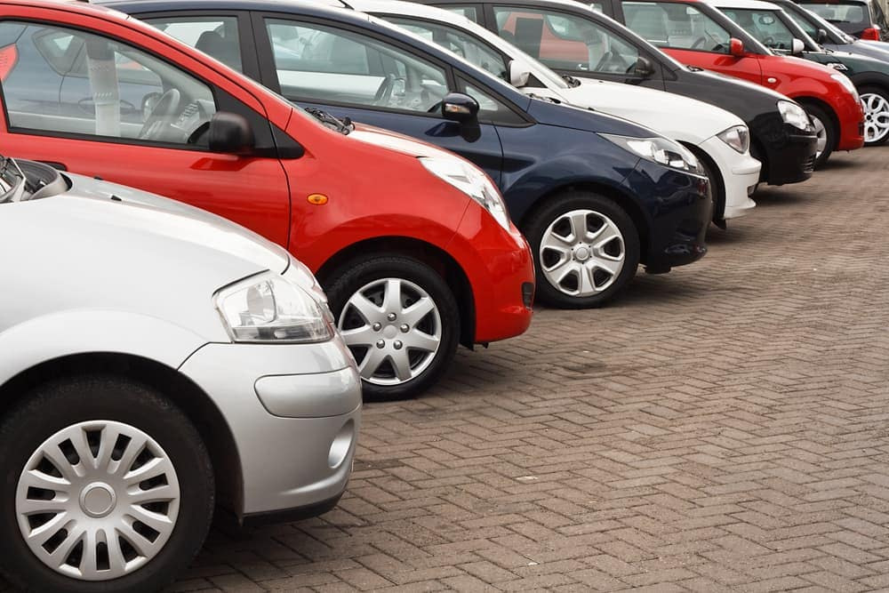 Used car sales in row