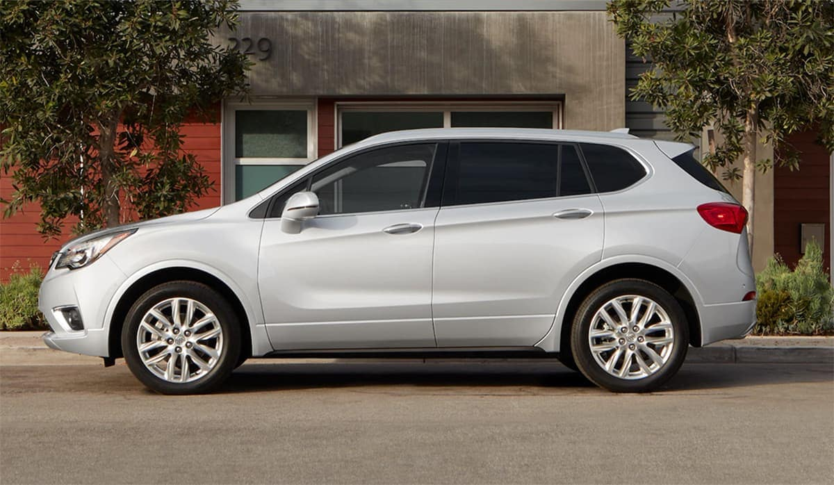 2019 Buick Envision in silver parked on street