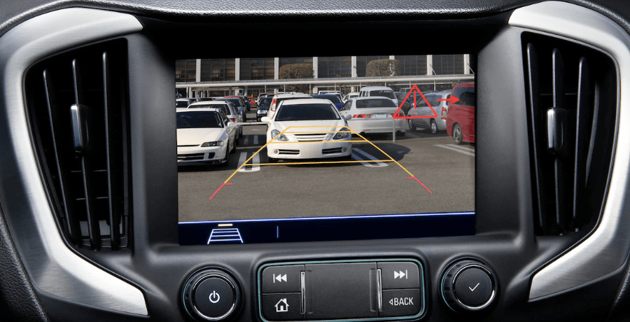 2019 GMC Terrain display with rear vision camera