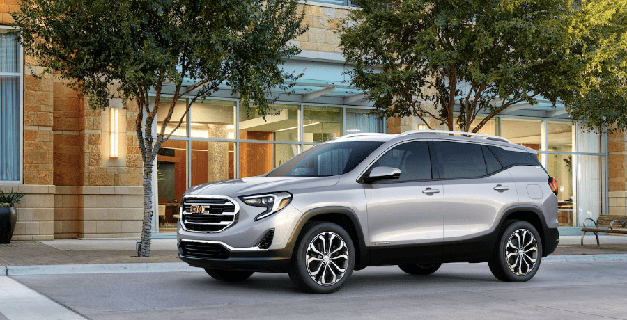 2019 GMC Terrain parked on road