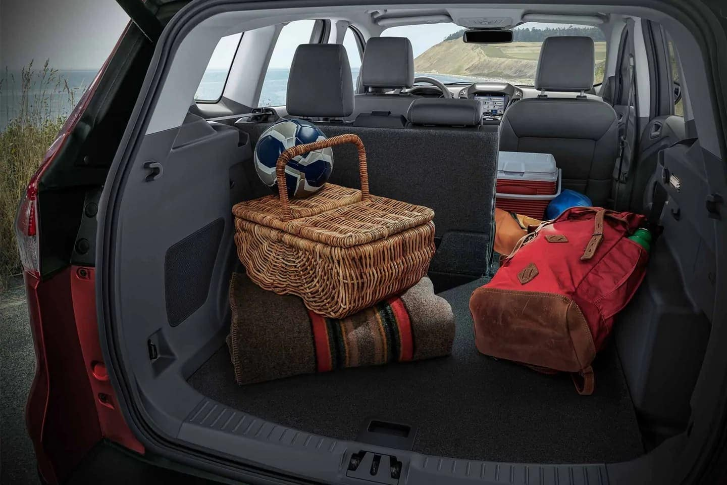 2019 Ford Escape cargo space with 40-60 split seat