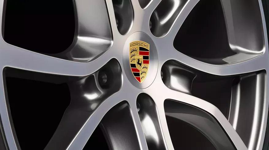 Close up of a Porsche tire