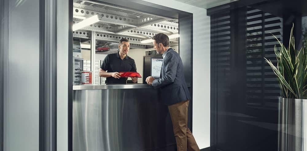 Porsche OEM Parts Counter