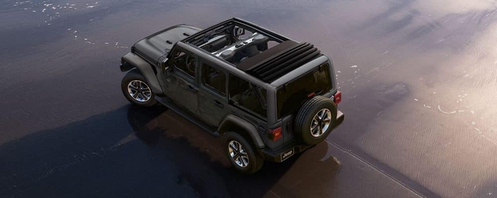 2019 wrangler open top on beach