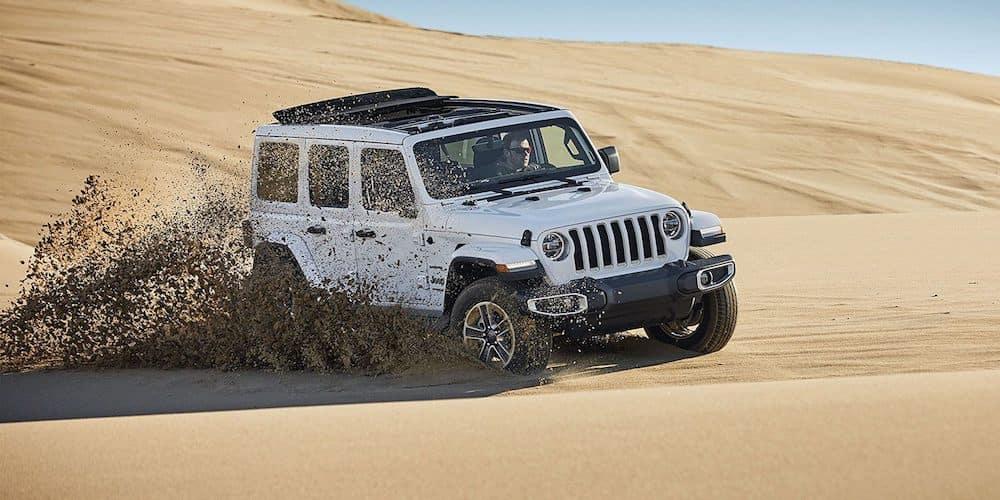 2019 wrangler driving in desert