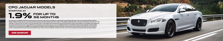 CPO Jaguar Models Starting At 1.9% For Up To 36 Months