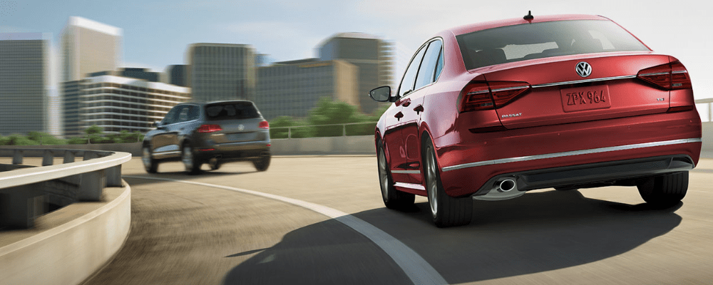 2019 VW Passat on the Road