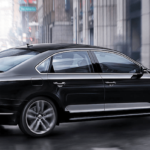 2019 Volkswagen Passat in Black on the Road