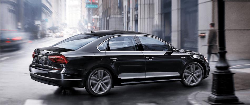 2019 Volkswagen Passat in Black on the Road
