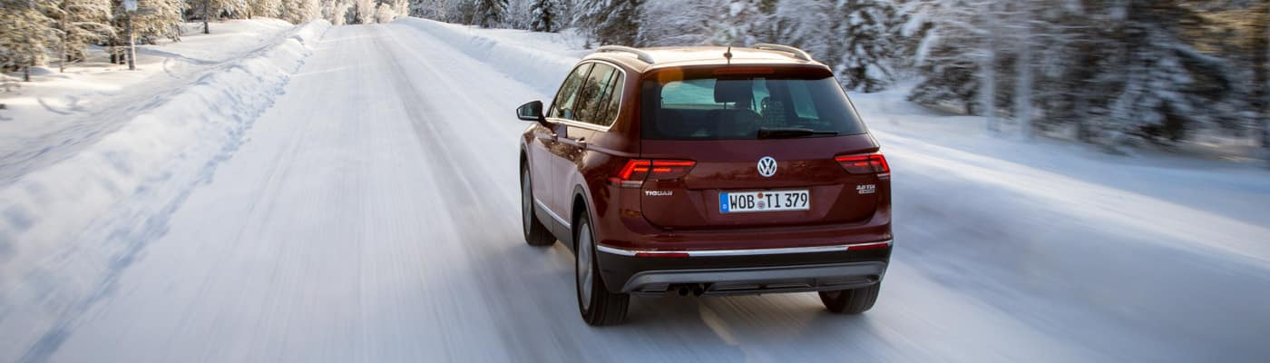 VW SUV in Snow