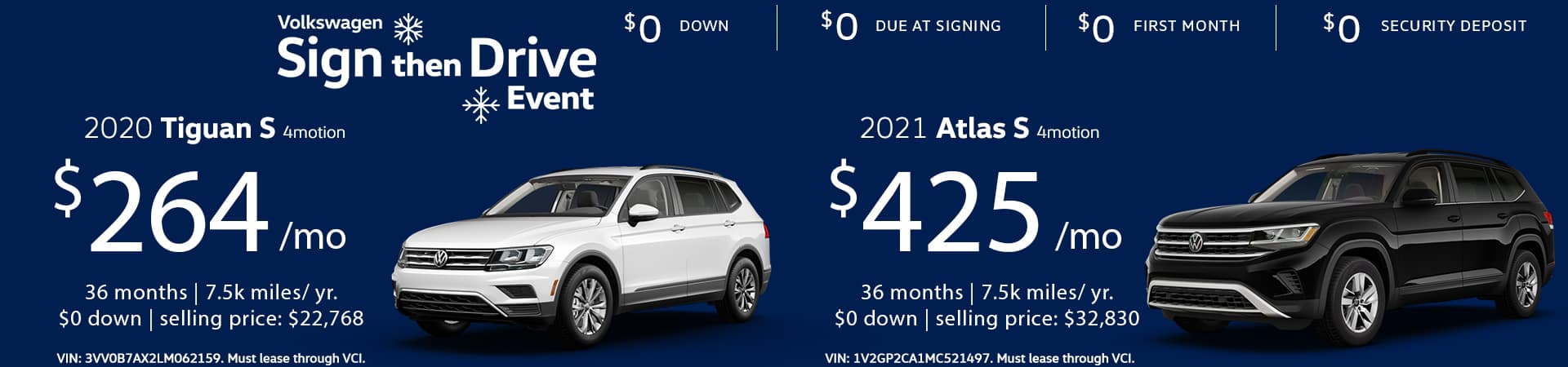 Tiguan S 4motion and Atlas S 4motion 11-10