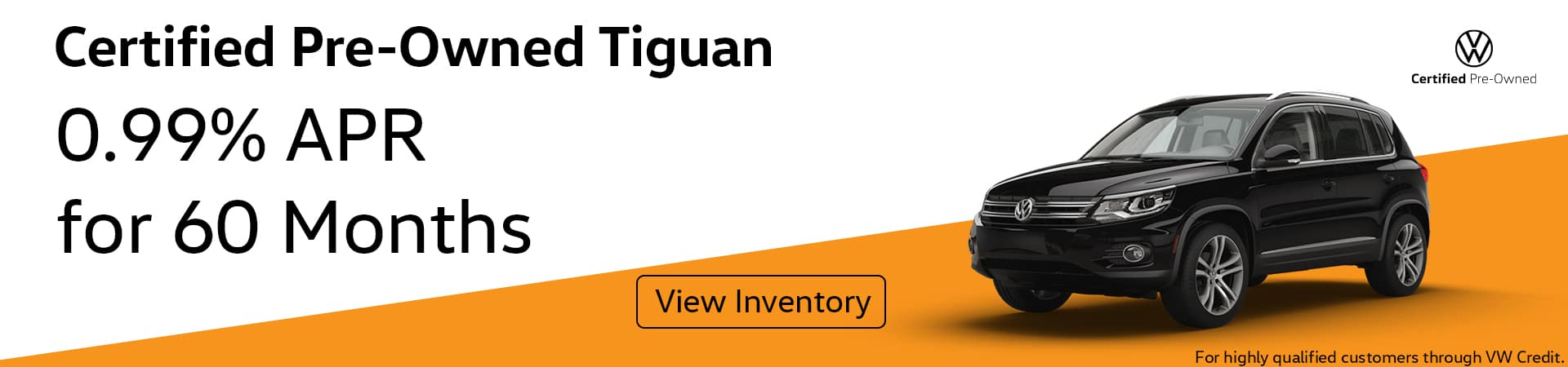 0.99% APR for 60 months on CPO Tiguan
