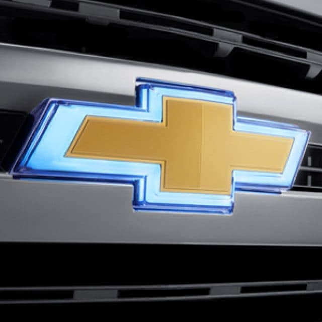 2019 Chevrolet Silverado glowing emblem