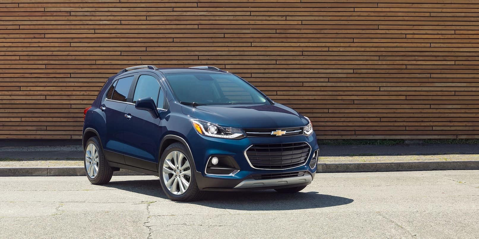 2019 Chevrolet Trax in blue parked