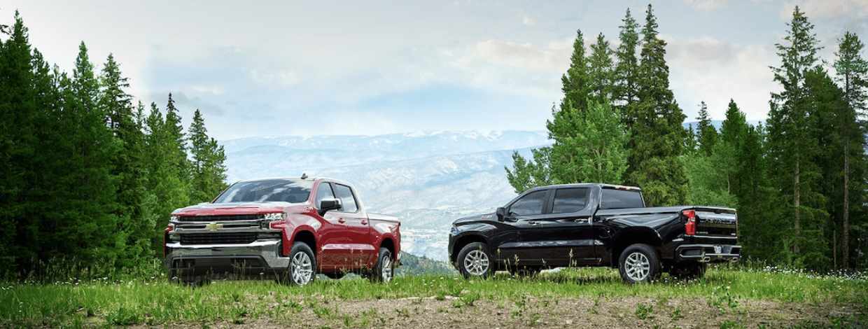 2019 Chevrolet Silverado trucks parked exterior