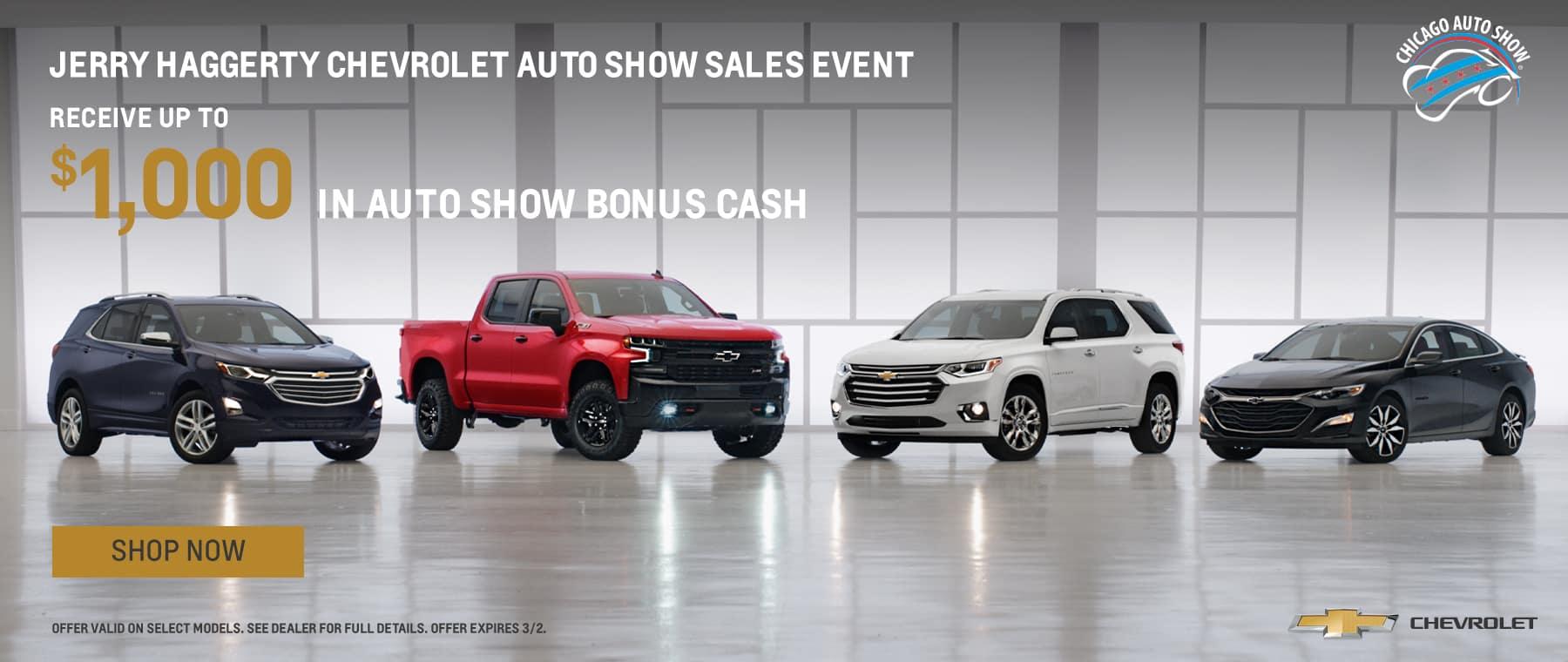 Auto Show Bonus Cash