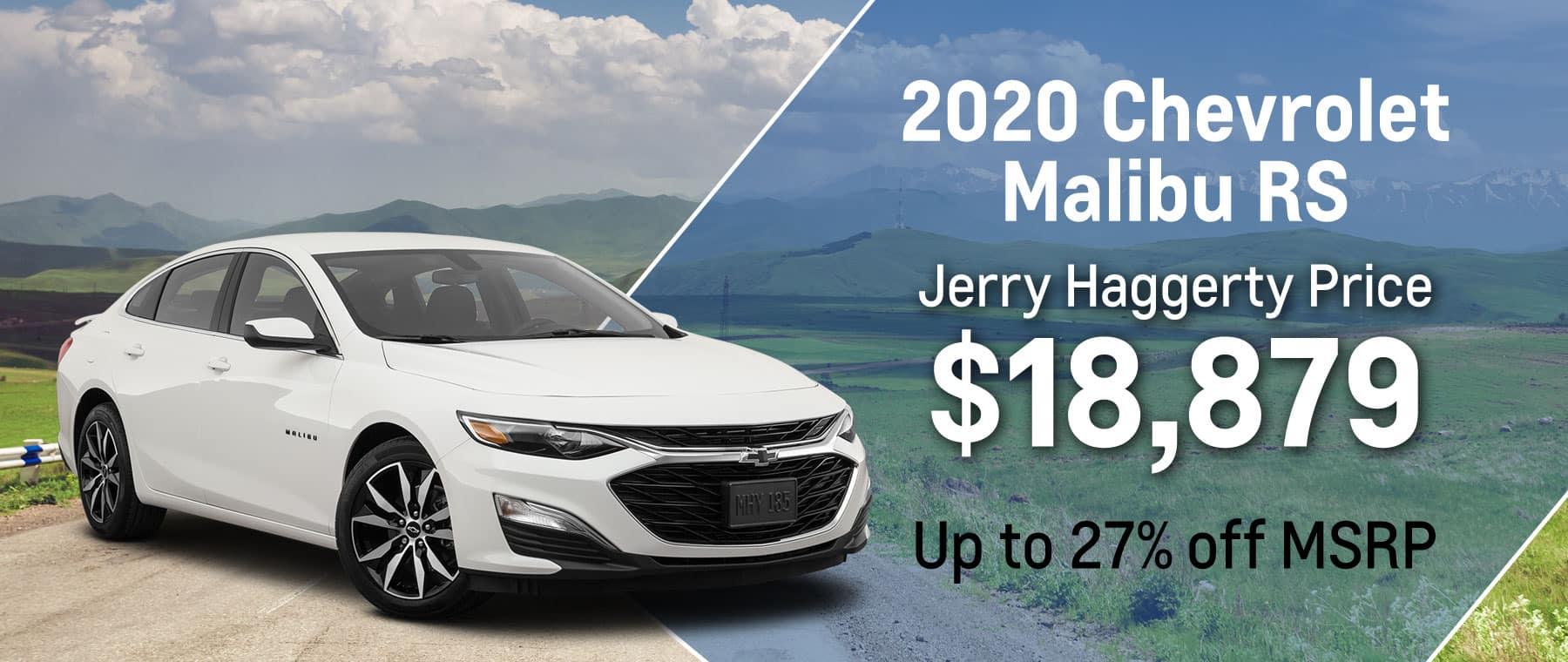 2020 Malibu RS April 2021 Offer