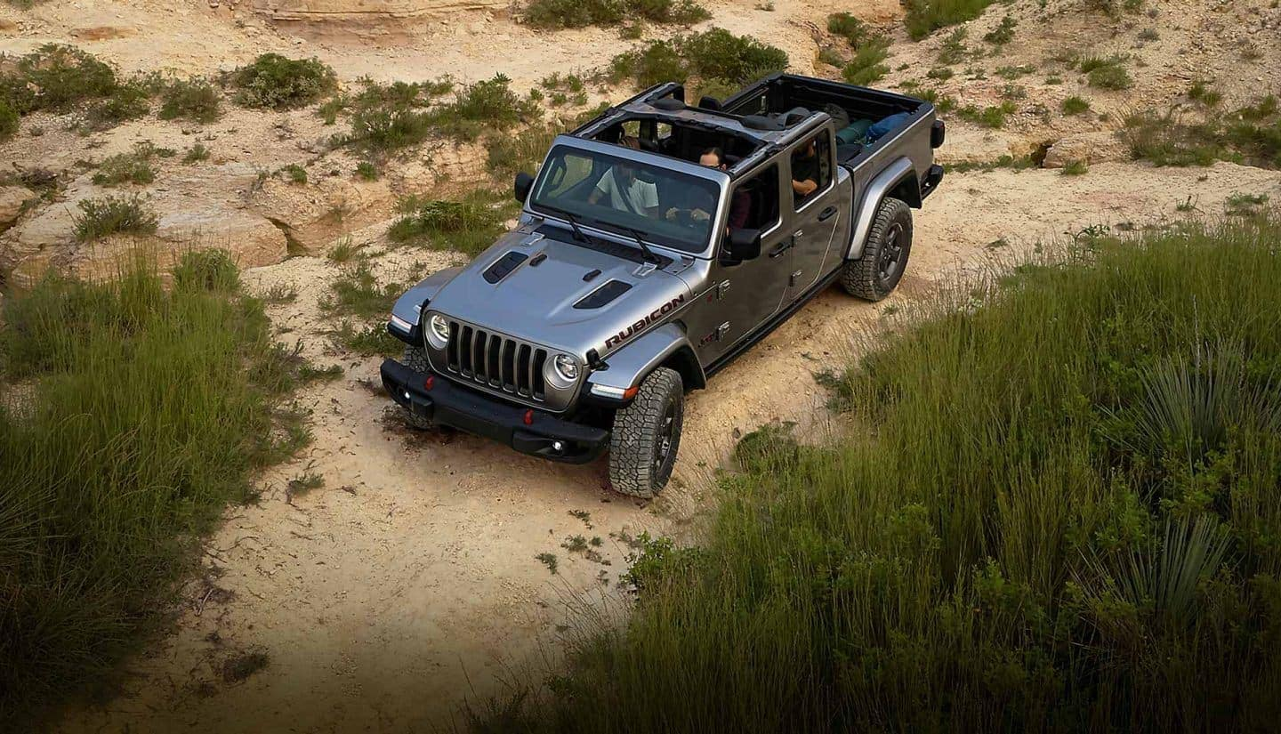 2020 Jeep Gladiator aerial off road