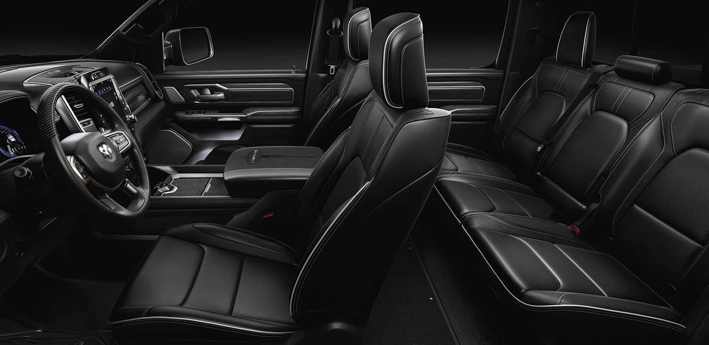 2019 RAM 1500 interior in black leather