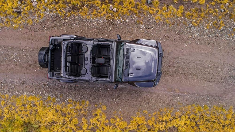 2019 Jeep Wrangler aerial shot