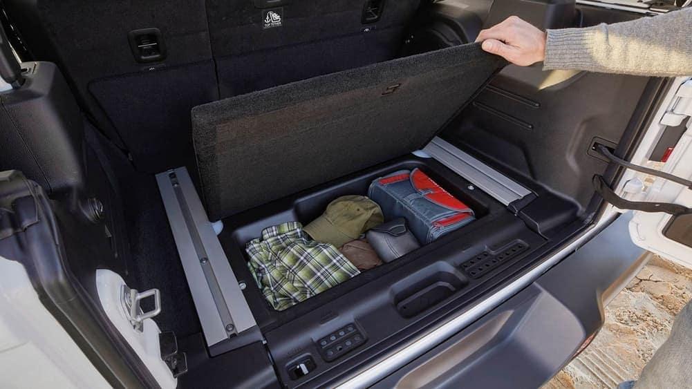 2019 Jeep Wrangler interior cargo space in trunk