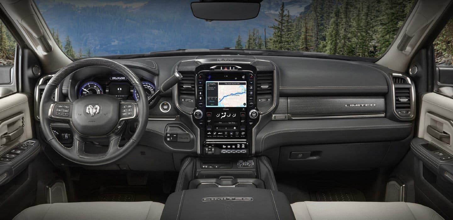 2019 Ram 2500 interior with uconnect screen