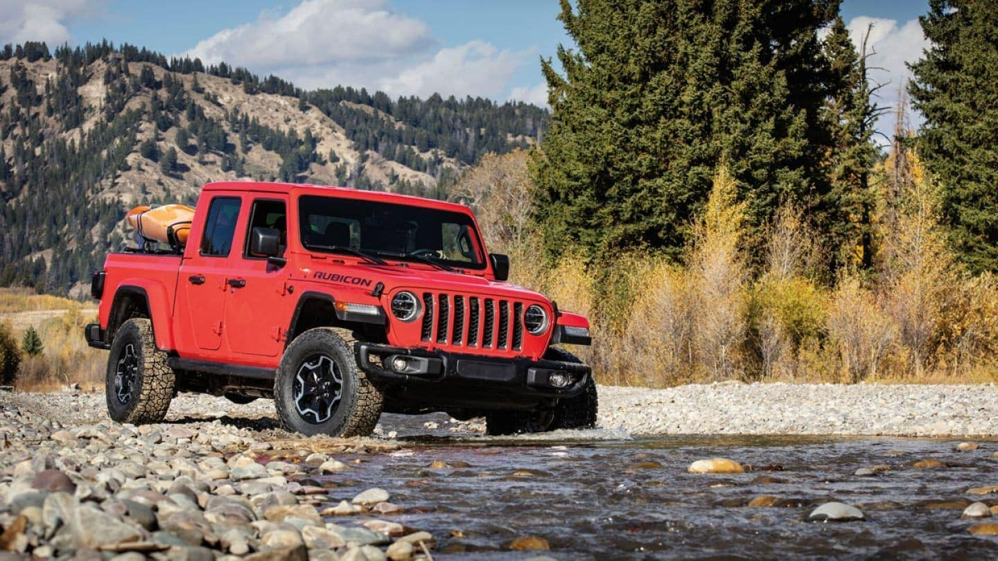 2020 Jeep Gladiator driving in water