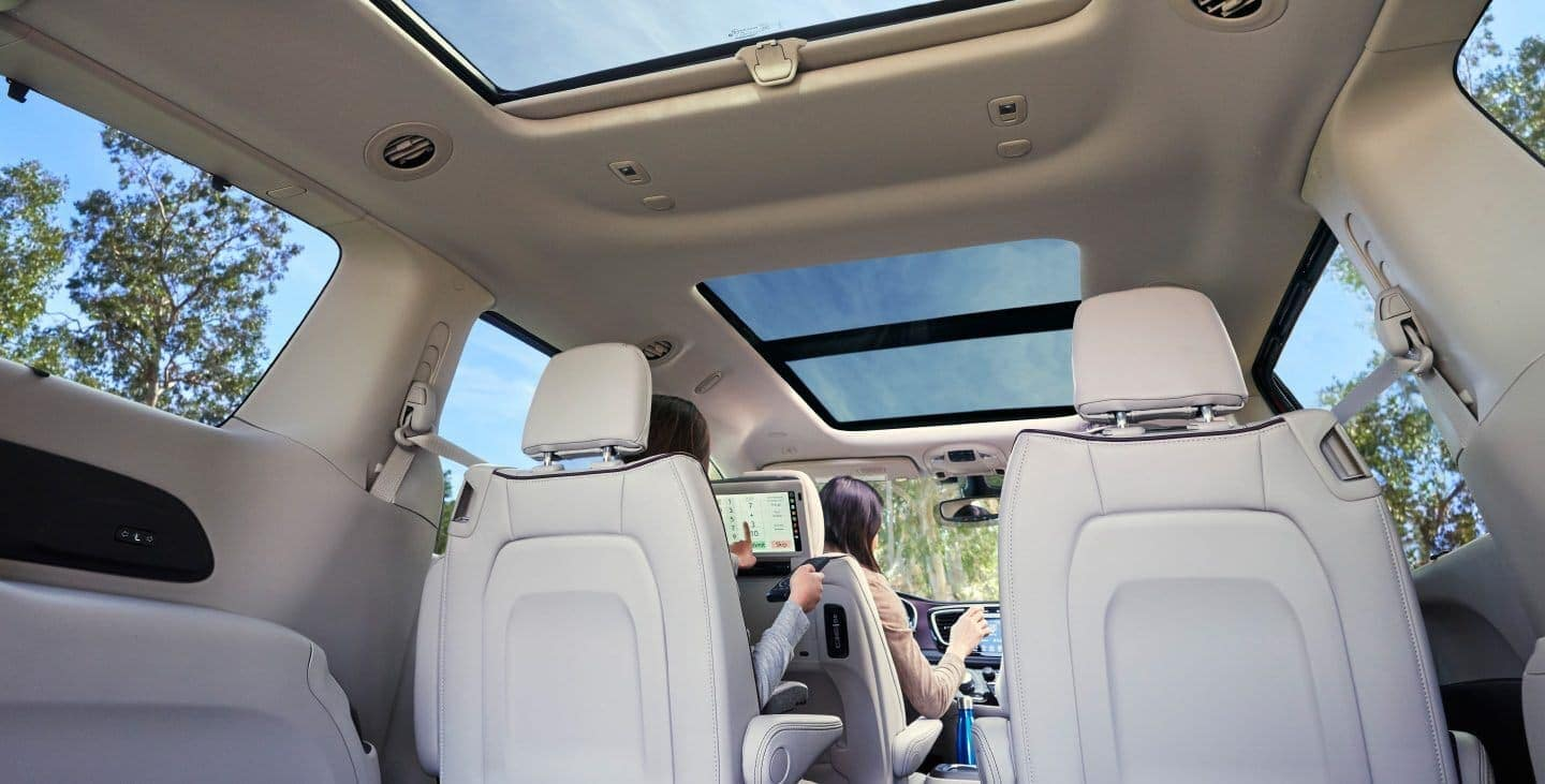 2019 Chrysler Pacifica interior from trunk