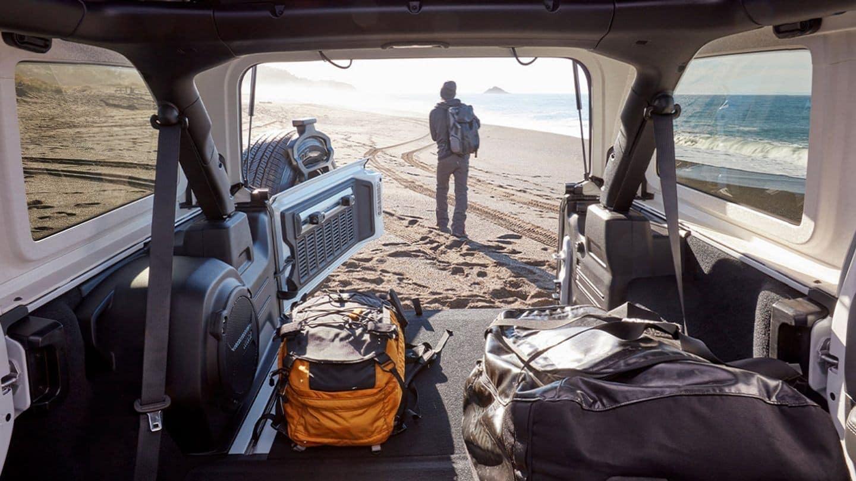 2020 Jeep Wrangler interior cargo space