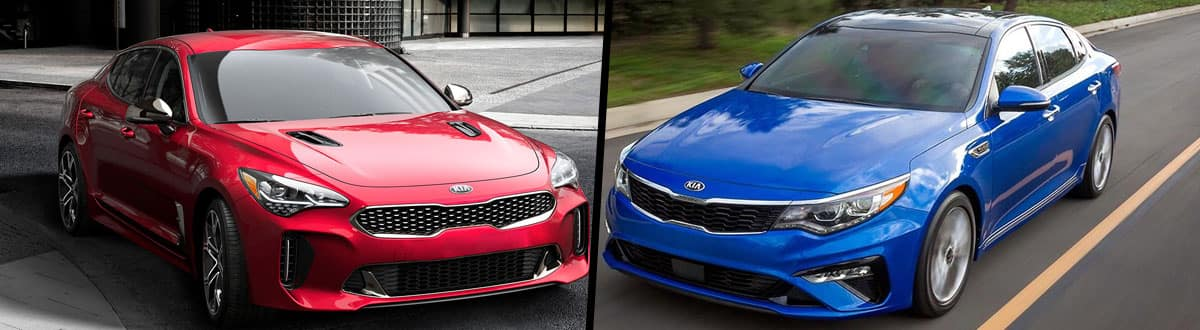 2019 Kia Stinger vs 2019 Kia Optima