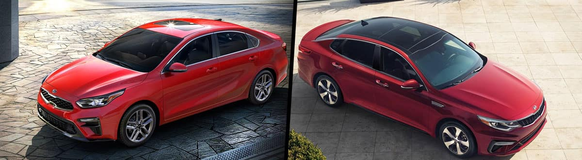 2019 Kia Forte vs 2019 Kia Optima