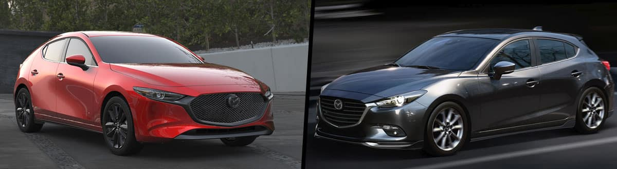 2019 Mazda3 Hatchback vs 2018 Mazda3 5 Door