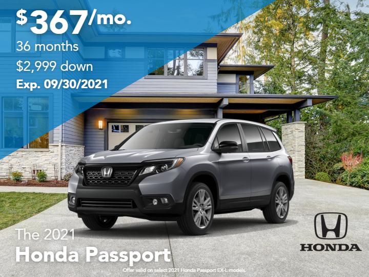 New 2021 Honda Passport EX-L AWD Sport Utility Automatic