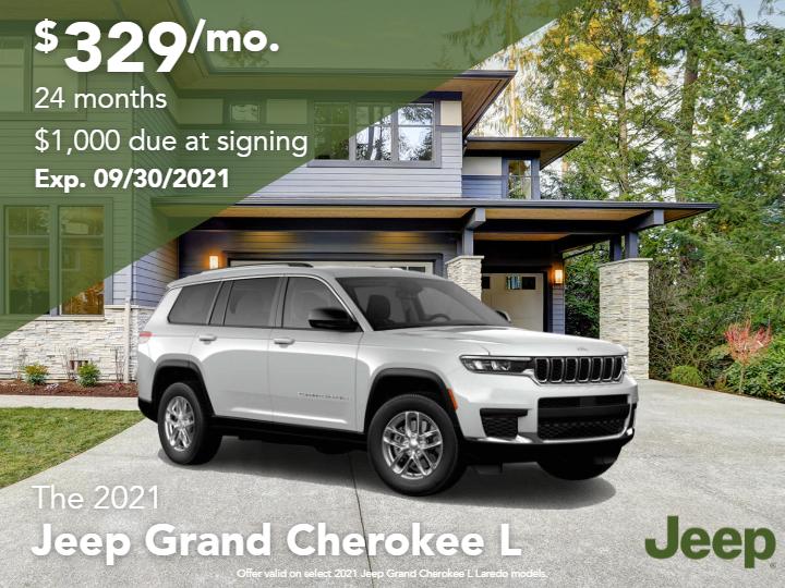 New 2021 Jeep Grand Cherokee L Laredo 4WD
