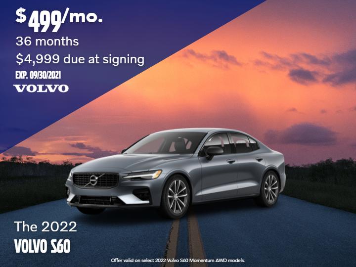 New 2022 Volvo S60 T5 Momentum AWD