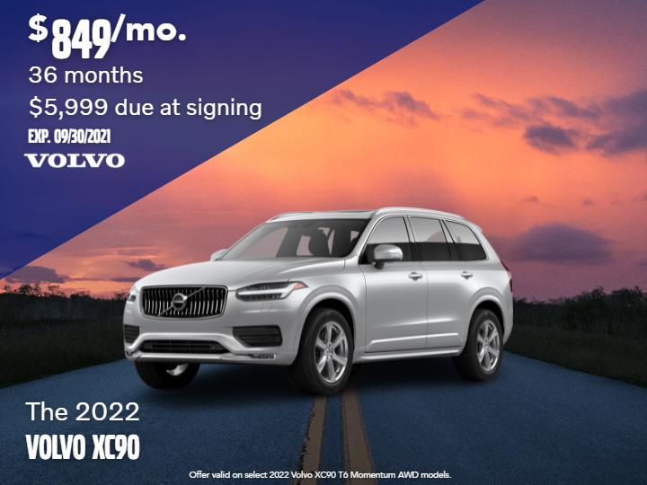 New 2022 Volvo XC90 T6 Momentum AWD