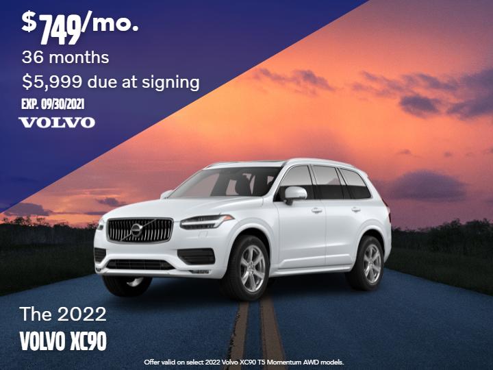 New 2022 Volvo XC90 T5 Momentum AWD