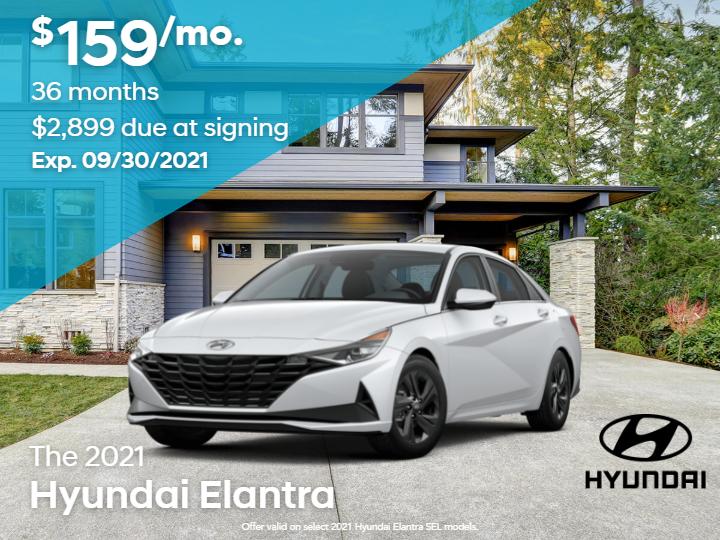 New 2021 Hyundai Elantra SEL 4Dr Sedan